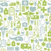 foto of helicopter  - seamless pattern with medical icons - JPG