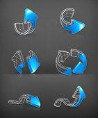 Setas desenho vetorial de conjunto,