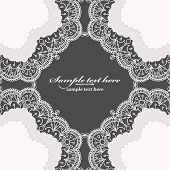 Invitation Card With Lace Frame