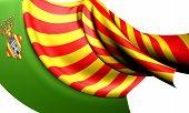 Bandera de Castellón De La Plana, España.