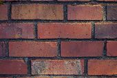 Texture - Red Clay Brick Wall