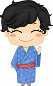 picture of national costume  - Illustration of Cute Little Japanese Boy wearing Traditonl Costume - JPG