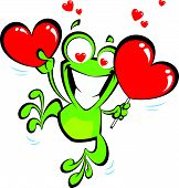 Crazy Cartoon Frog In Love
