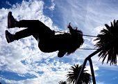 Fun On The Swings At St Kilda Beach