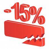 Minus Fifteen Per Cent (red)