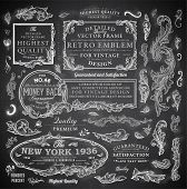 picture of vintage antique book  - Vector set of calligraphic design elements - JPG