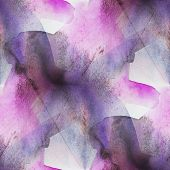 seamless cubism purple abstract art Picasso texture watercolor w