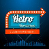 stock photo of marquee  - Retro vintage sign with copyspace - JPG