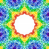 Rainbow kaleidoscope vector colorful background