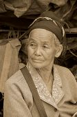 old buddhist woman