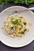 Linguine With Cheese And Citrus Zest