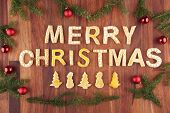 Merry Christmas With Christmas Decoration