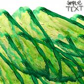 background art hand green watercolour brush texture isolated