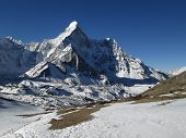 Ama Dablam And Glacier, Chhukhung
