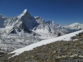 Beautiful Mountain Ama Dablam, Sagarmatha National Park