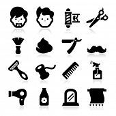 stock photo of shaving  - Barber Icons - JPG