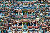 stock photo of meenakshi  - relief of menakshi temple madurai tamil nadu india - JPG