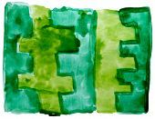 art green, ornament watercolor isolated for your design
