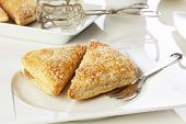 Apple turnover cake on a plate