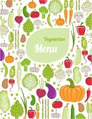 restaurant menu design. healthy vegetables.