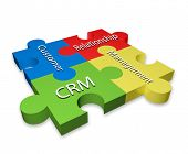 Diagrama de puzzle Customer Relationship Management (CRM)