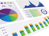 stock photo of statements  - Gorgeous series of modern graphs and charts - JPG