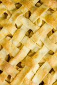 Lattice Pastry Apple Pie Top, Cooked
