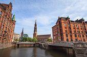 Downtown of Hamburg Germany