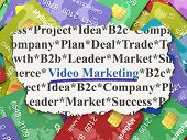 Business concept: Video Marketing on Credit Card background