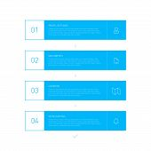 Flat Blue Step by Step Infographics