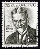 Briefmarke Tschechoslowakei 1953 Martin Kukucin, Schriftsteller