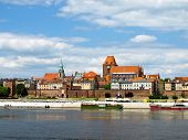 Panorama Of Torun, Poland.