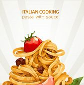 Italian Cooking pasta with sauce banner