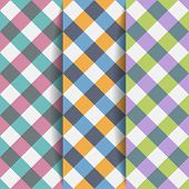 pic of tartan plaid  - Set Geometric Backgrounds of Plaid Pattern - JPG