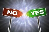 Entscheidung-Konzept