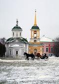 Tempel In Moskou Park