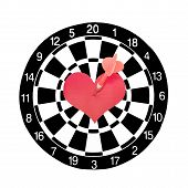 Heart With Dart Targeted To The Center