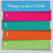 Vector New Year Resolution List template