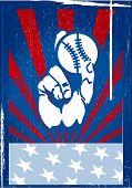 Постер, плакат: Американский бейсбол