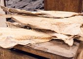Dried Cod Fish In Iceland