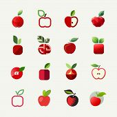 Apple. Vector Logo Templates Set. Elements For Design