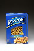 IRVINE, CA - January 21, 2013: A one pound box of Ronzoni Rotini Pasta. Rotini is corkscrew or spira