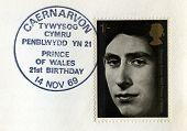 Postmarked Prince Of Wales Postal Stamp