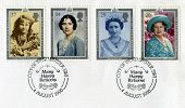 British Postage Stamps Commemorating The Queen Mother's 90th Birthday