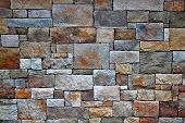stock photo of stonewalled  - Brick and stone wall - JPG