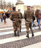 Soldiers in Paris' streets