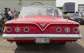 1961 Red Chevy Impala Rear View