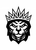 Heraldic Crowned Lion