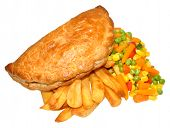 Pasty And Chips Meal