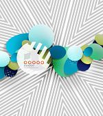 Vector hipster geometric shape background for infographics | business background | numbered banners